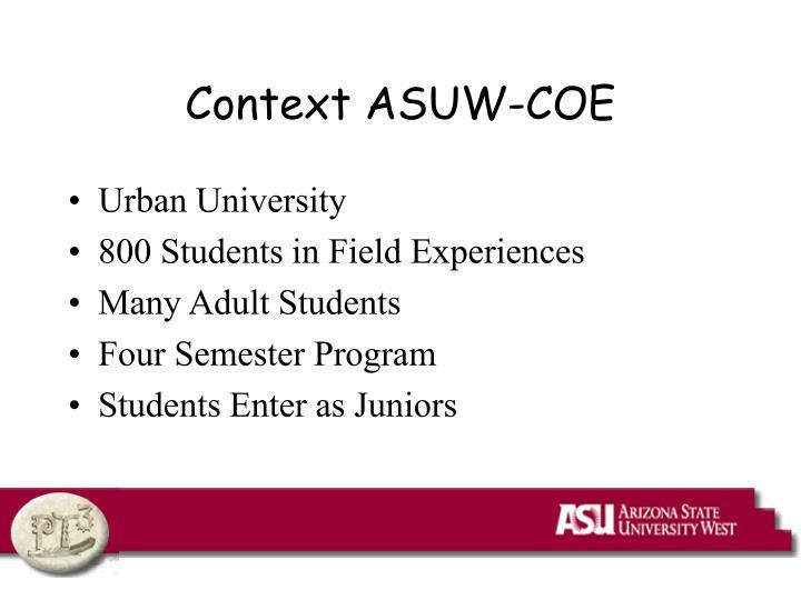 Context ASUW-COE