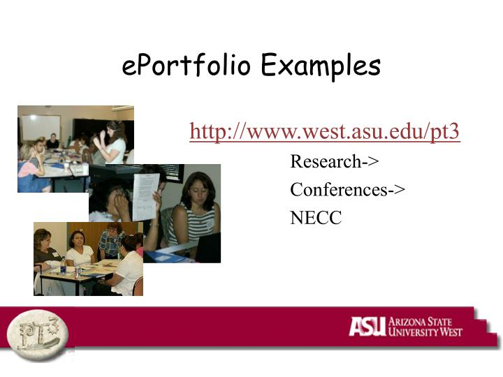 ePortfolio Examples