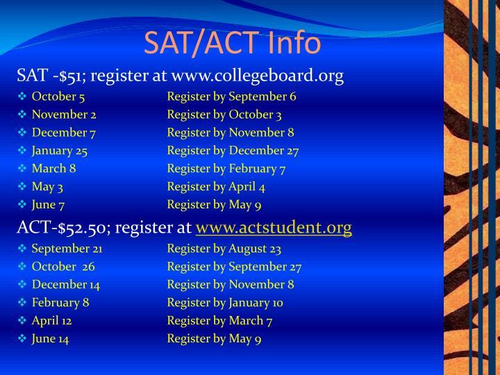 SAT/ACT Info