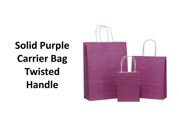 Solid Purple Carrier Bag Twisted