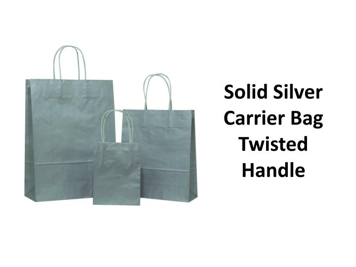Solid silver carrier bag twisted handle