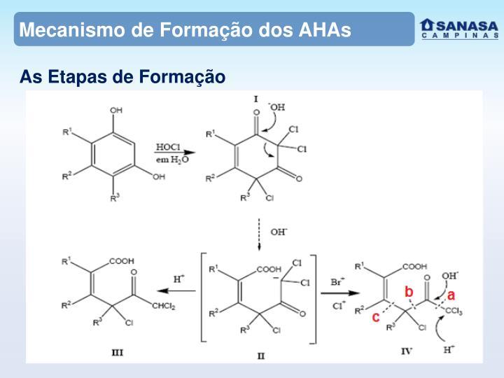 Mecanismo de Formação dos AHAs