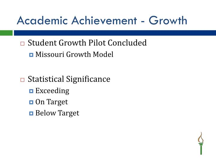 Academic Achievement - Growth