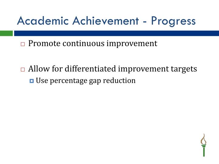 Academic Achievement - Progress