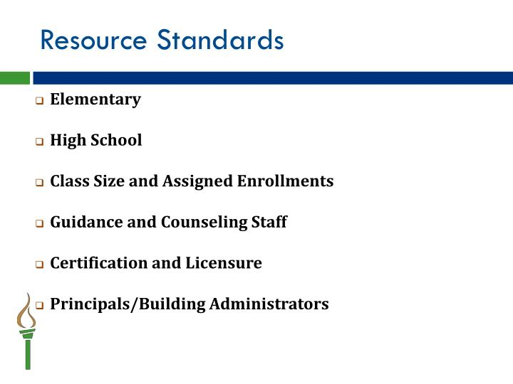 Resource Standards