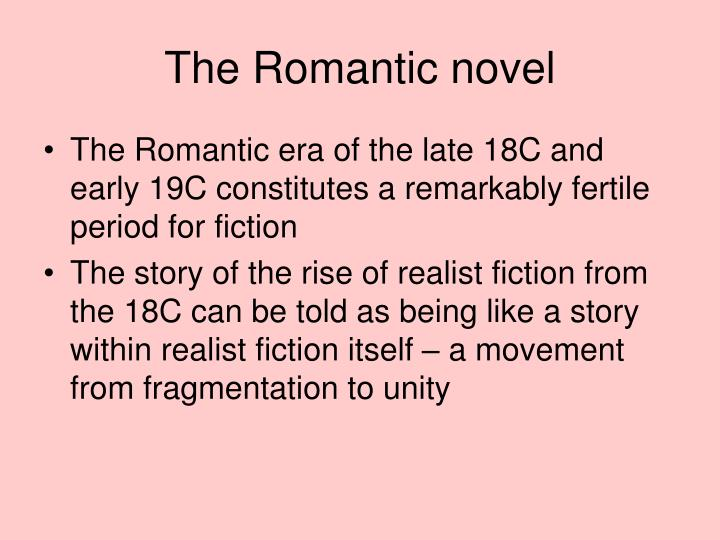 The Romantic novel