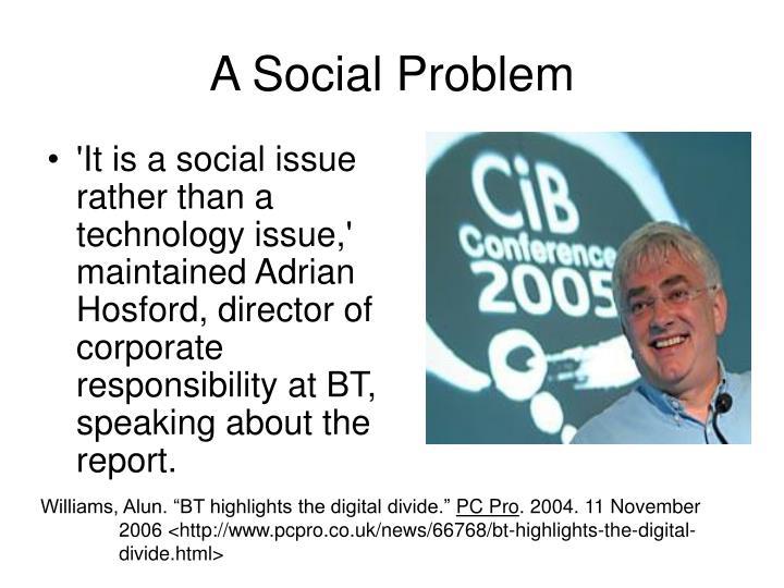 A Social Problem
