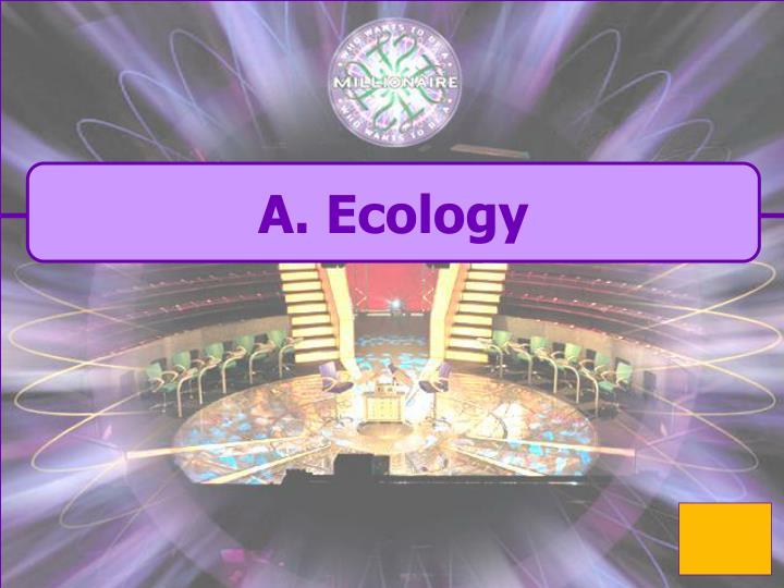 A. Ecology