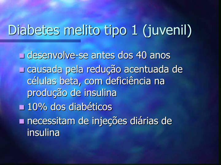 Diabetes melito tipo 1 (juvenil)