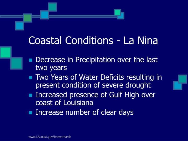 Coastal Conditions - La Nina