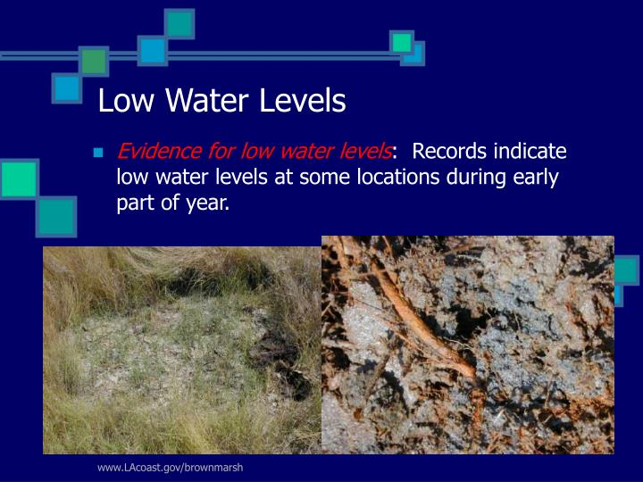 Low Water Levels
