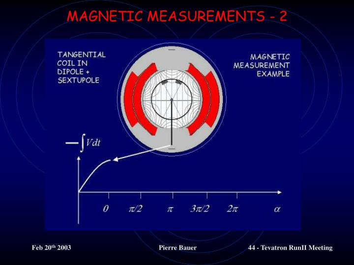 MAGNETIC MEASUREMENTS - 2