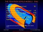 the tevatron dipole models end