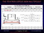 the tevatron dipole skew multipoles