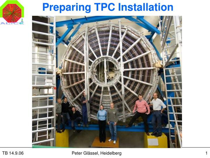 Preparing tpc installation