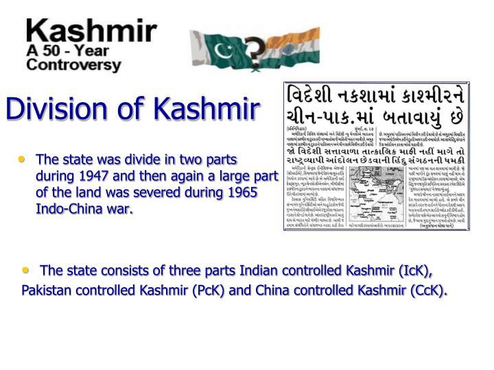 Division of Kashmir