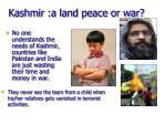kashmir a land peace or war
