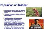 population of kashmir