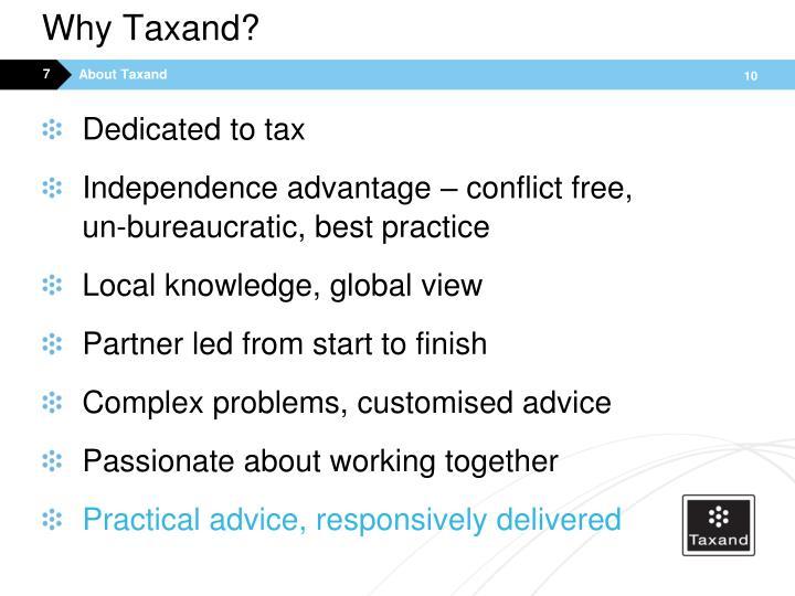 Why Taxand?