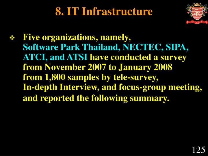 8. IT Infrastructure