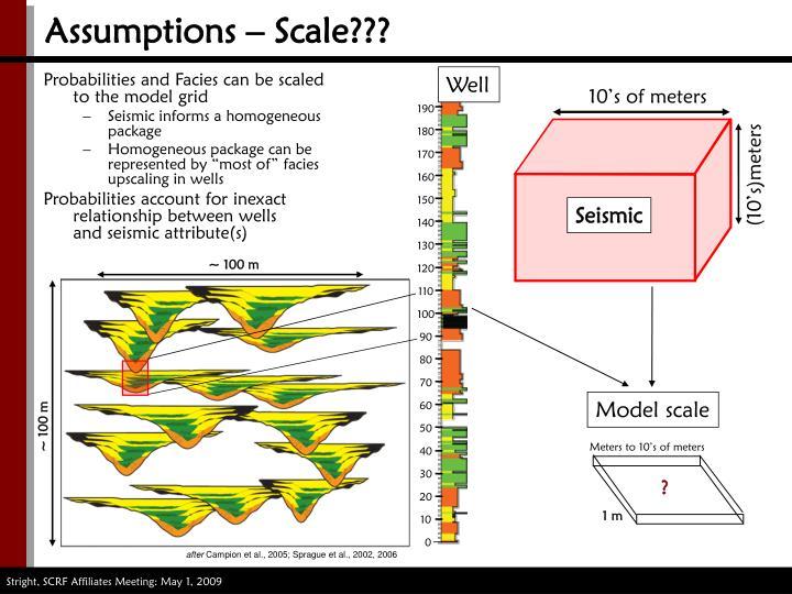 Assumptions – Scale???
