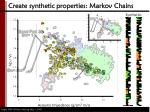 create synthetic properties markov chains