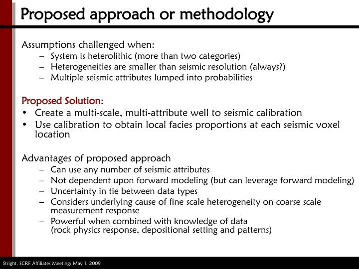 Proposed approach or methodology