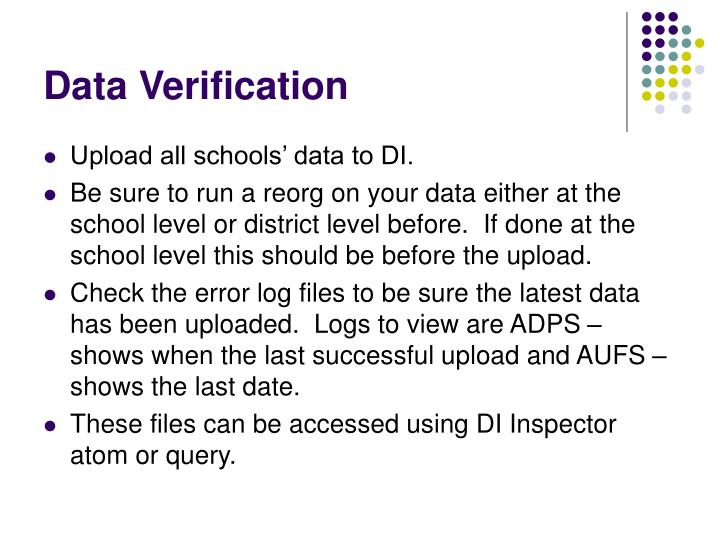 Data Verification