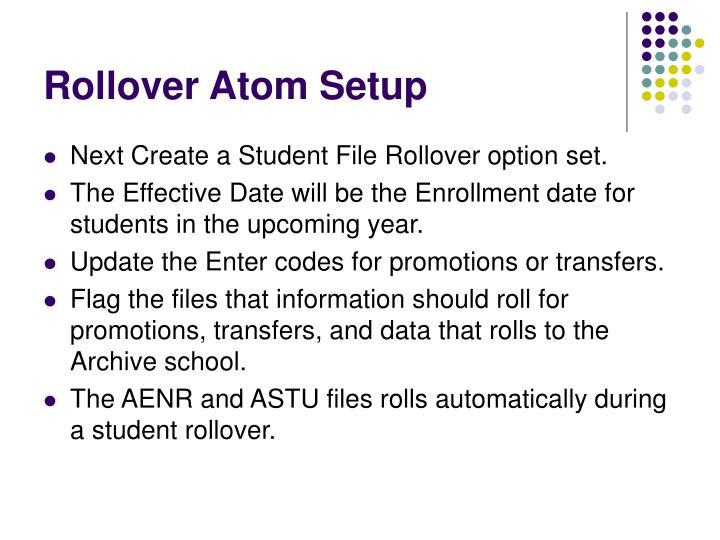 Rollover Atom Setup