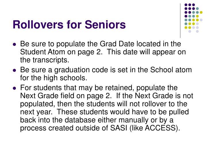 Rollovers for Seniors