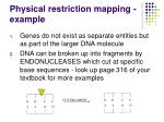 physical restriction mapping example
