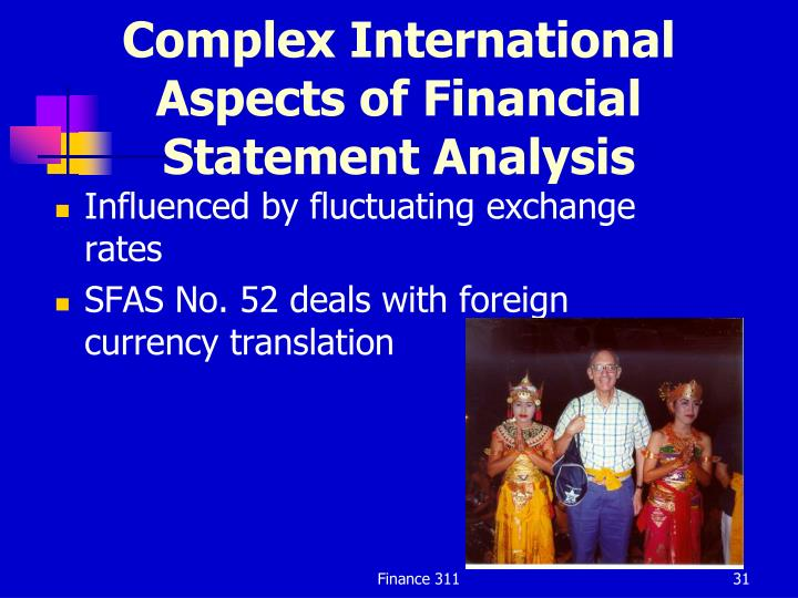 Complex International Aspects of Financial Statement Analysis