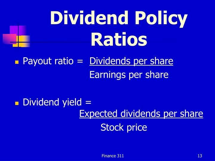 Dividend Policy Ratios