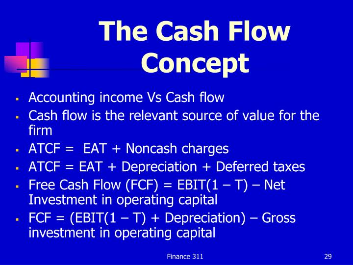 The Cash Flow Concept