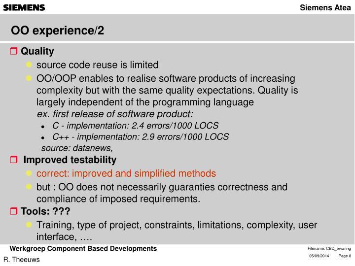 OO experience/2