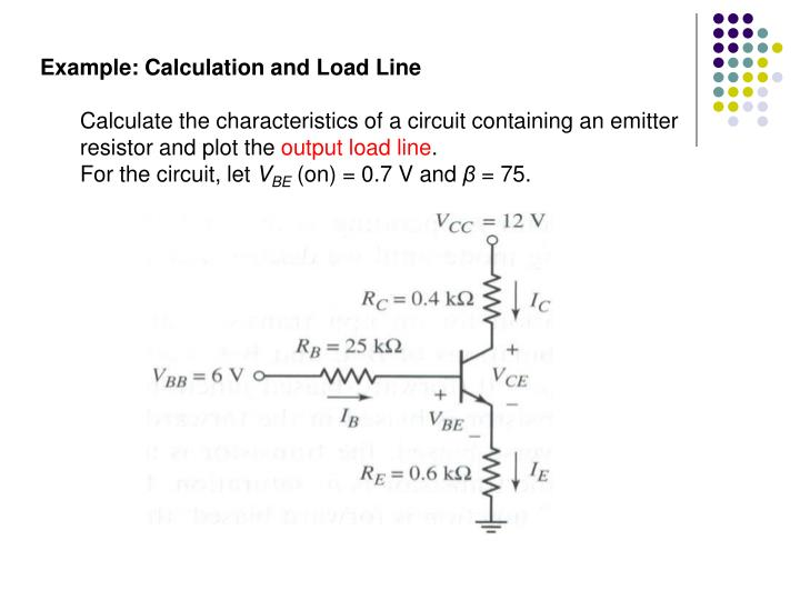 Example: Calculation and Load Line