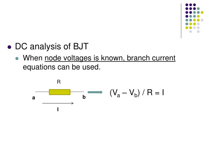DC analysis of BJT