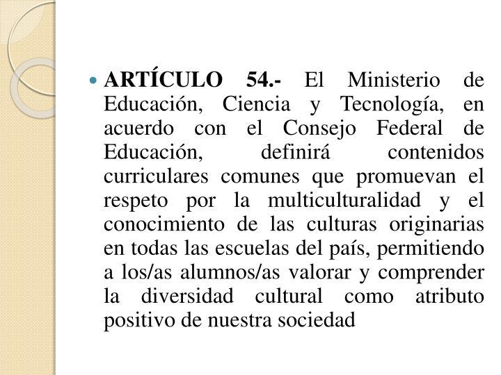 ARTÍCULO 54.-