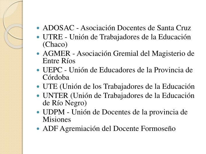 ADOSAC - Asociación Docentes de Santa Cruz