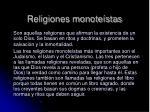religiones monote stas