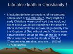 life ater death in christianity