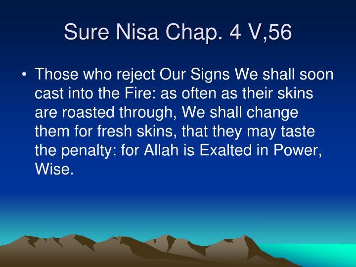 Sure Nisa Chap. 4 V,56
