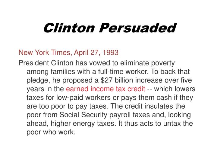 Clinton Persuaded