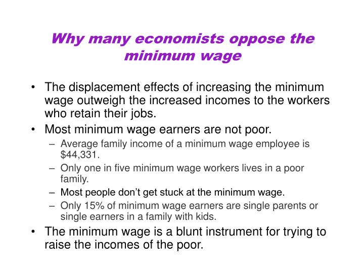 Why many economists oppose the minimum wage
