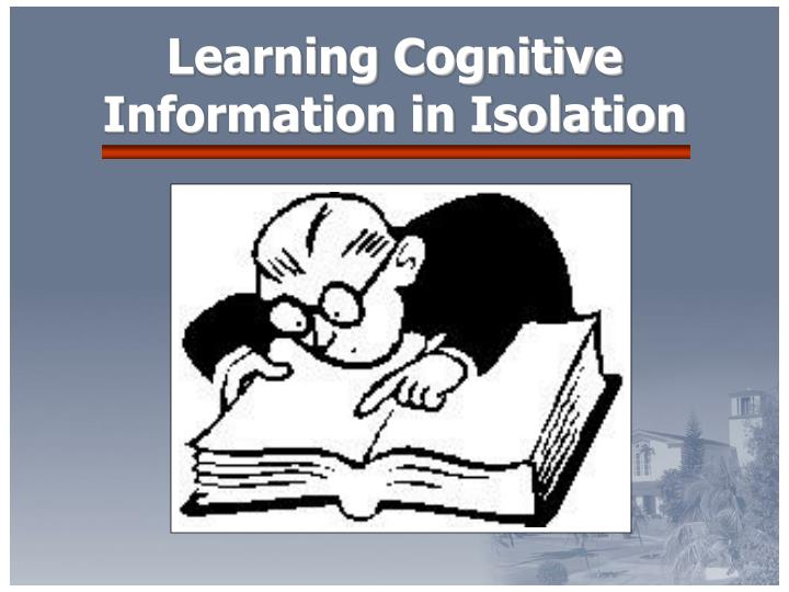 Learning Cognitive