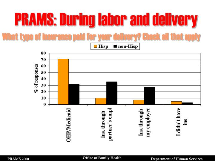 PRAMS: During labor and delivery