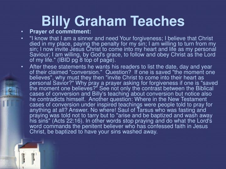 Billy Graham Teaches