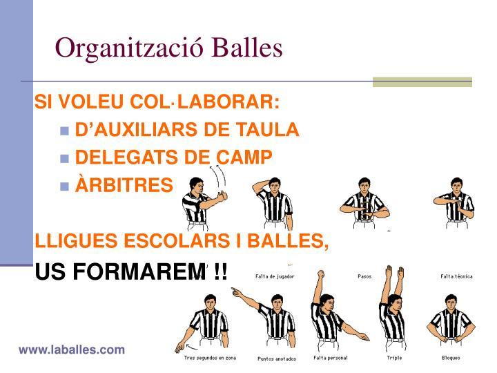 Organització Balles
