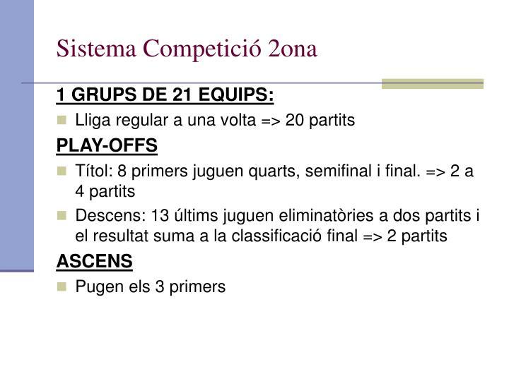 Sistema Competició 2ona