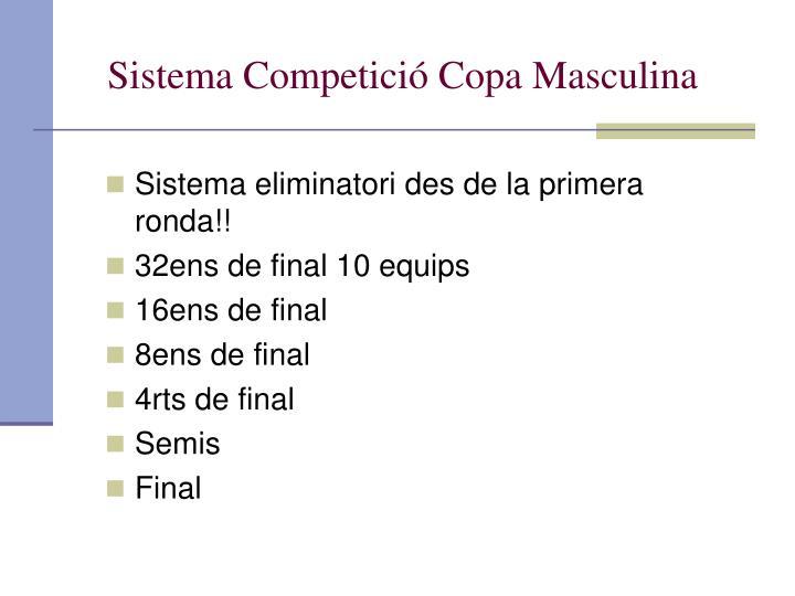 Sistema Competició Copa Masculina